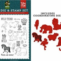 Echo Park - Animal Safari Collection - Designer Die and Clear Photopolymer Stamp Set - Wild Thing