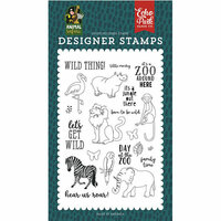 Echo Park - Animal Safari Collection - Clear Photopolymer Stamps - Wild Thing