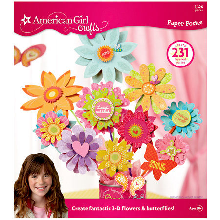 EK Success - American Girl Crafts - Paper Posies Flower Pad, CLEARANCE