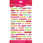 EK Success - American Girl Crafts - Pillow Stickers - Words