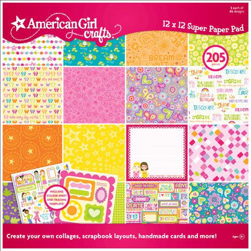 EK Success - American Girl Crafts - 12 x 12 Paper Pad - Spring, CLEARANCE