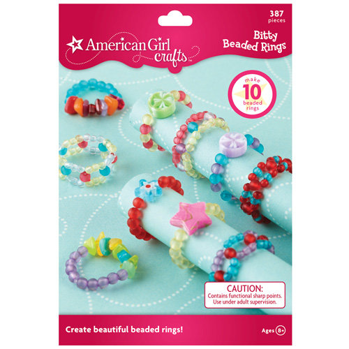 EK Success - American Girl Crafts - Jewelry - Bitty Beaded Rings Kit