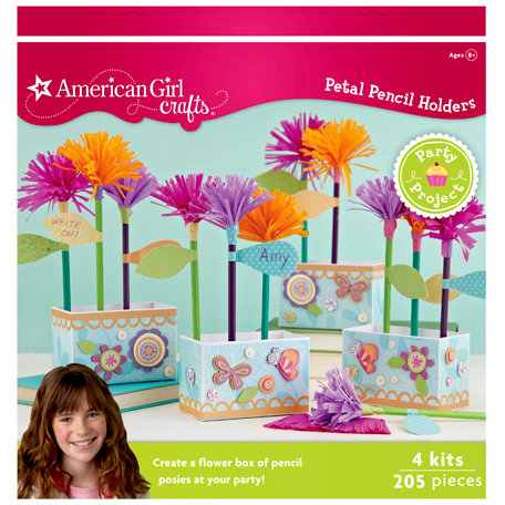 EK Success - American Girl Crafts - Party Collection - Activity Kit - Flower Pencil Holder