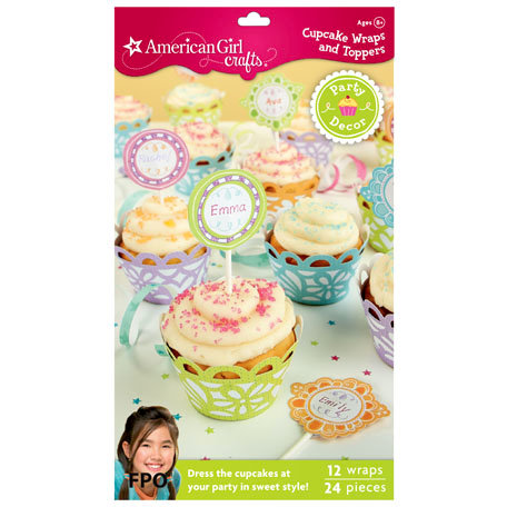 EK Success - American Girl Crafts - Party Collection - Cupcake Wraps and Picks