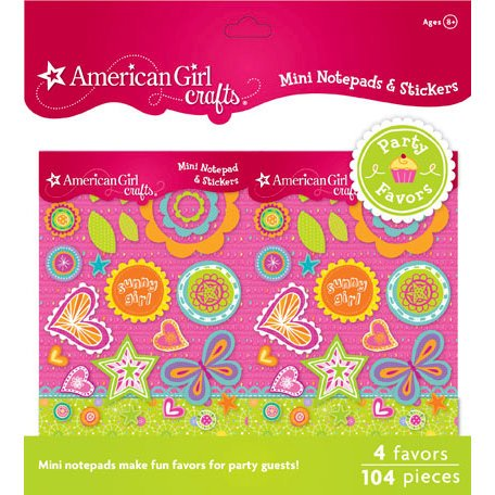 EK Success - American Girl Crafts - Party Collection - Craft Favors - Mini Notepads and Sticker