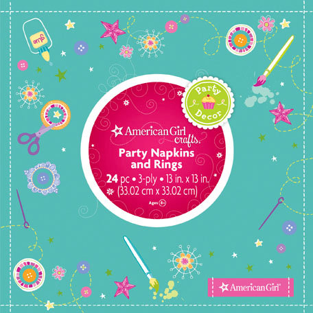 EK Success - American Girl Crafts - Party Collection - Napkins and Rings