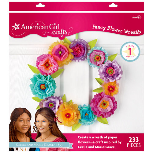 EK Success - American Girl Crafts - Paper Flower Wreath Kit