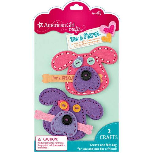 EK Success - American Girl Crafts - Sew and Shares Collection - Fabric Craft Kit - Dogs