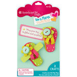EK Success - American Girl Crafts - Sew and Shares Collection - Fabric Craft Kit - Flip Flops