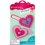 EK Success - American Girl Crafts - Sew and Shares Collection - Fabric Craft Kit - Hearts