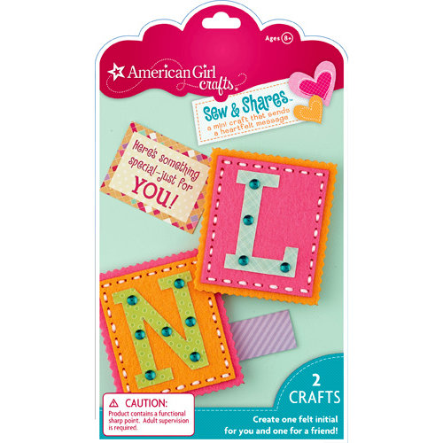 EK Success - American Girl Crafts - Sew and Shares Collection - Fabric Craft Kit - Initials