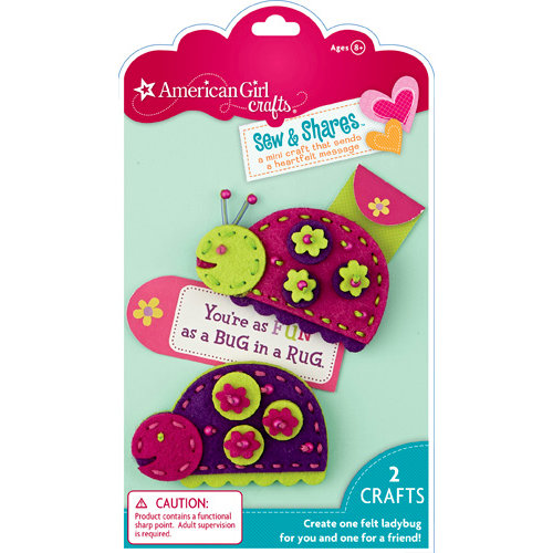 EK Success - American Girl Crafts - Sew and Shares Collection - Fabric Craft Kit - Lady Bugs