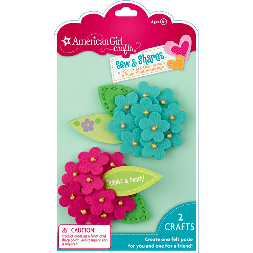 EK Success - American Girl Crafts - Sew and Shares Collection - Fabric Craft Kit - Posies