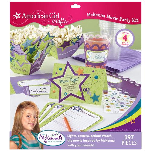 EK Success - American Girl Crafts - Movie Party Kit - McKenna