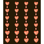 EK Success - Jolee's Boutique - All That Bling Collection - 3 Dimensional Stickers - Red Hearts Repeats