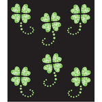 EK Success - Jolee's Boutique - All That Bling Collection - 3 Dimensional Stickers - Lucky Clover Repeats