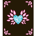 EK Success - Jolee's Boutique - All That Bling Collection - 3 Dimensional Stickers - Large Heart Wing