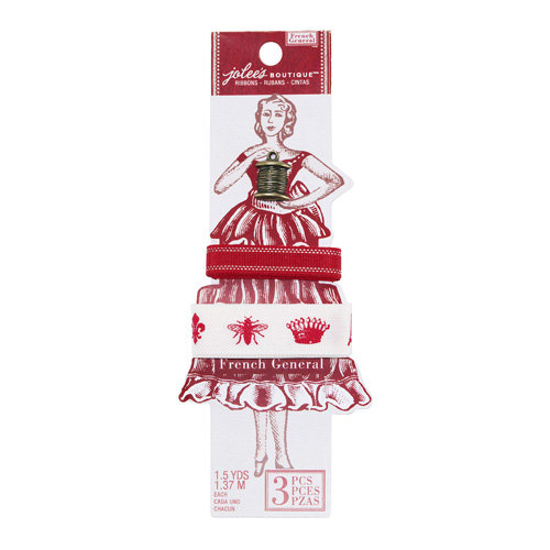 EK Success - Jolee's Boutique - French General Collection - Ribbon - Metallic and Icons