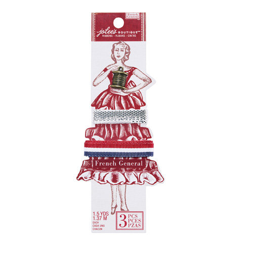 EK Success - Jolee's Boutique - French General Collection - Ribbon - Metallic French Flag