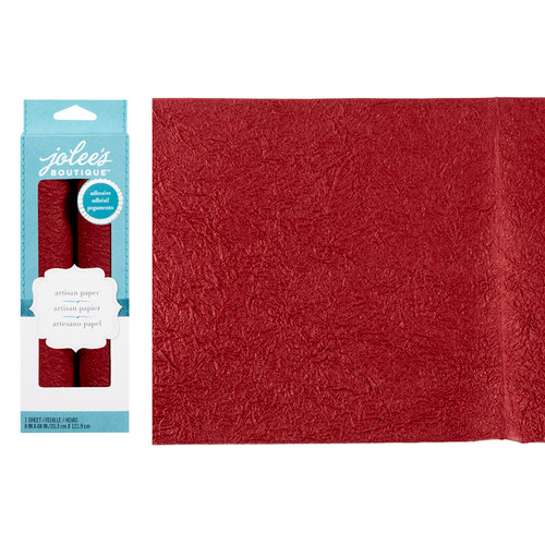 EK Success - Jolee's Boutique - Adhesive Glitter Paper - Red