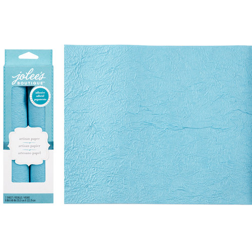 EK Success - Jolee's Boutique - Adhesive Crinkle Paper - Blue