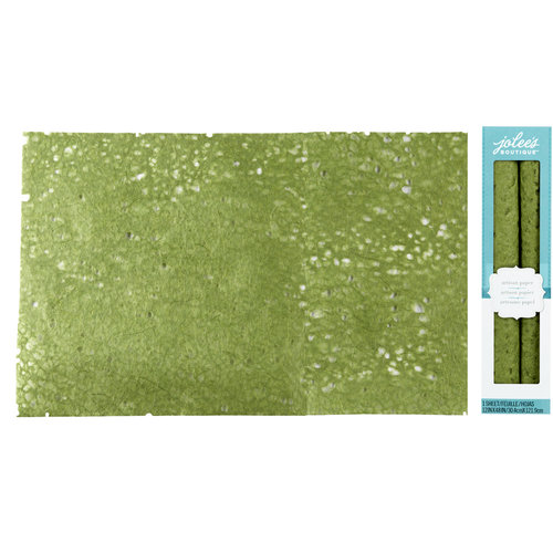 EK Success - Jolee's Boutique - Fiber Lace Paper - Green