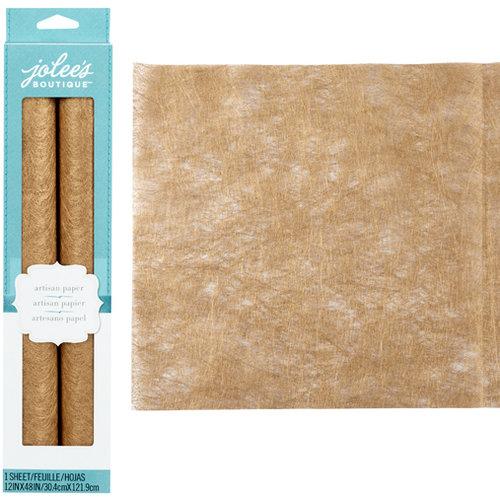 EK Success - Jolee's Boutique - Metallic Fiber Paper - Gold