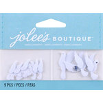 EK Success - Jolee's by You Redux - 3 Dimensional Embellishments with Gem Accents - Mini White Doves