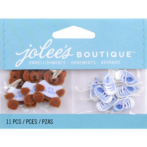 EK Success - Jolee's by You Redux - 3 Dimensional Embellishments - Baby Boy Bear and Booties