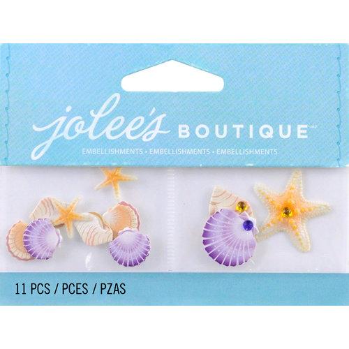 EK Success - Jolee's by You Redux - 3 Dimensional Embellishments with Gem Accents - Mini Seashells