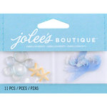 EK Success - Jolee's by You Redux - 3 Dimensional Embellishments with Epoxy and Glitter Accents - Mini Waves