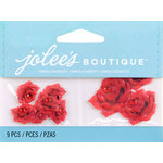 EK Success - Jolee's by You Redux - 3 Dimensional Embellishments with Gem Accents - Mini Red Roses