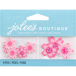 EK Success - Jolee's by You Redux - 3 Dimensional Embellishments with Gem and Glitter Accents - Pink Cherry Blossoms