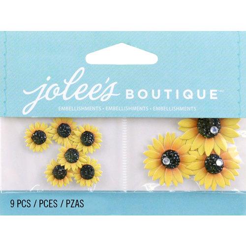 EK Success - Jolee's by You Redux - 3 Dimensional Embellishments with Gem Accents - Mini Sunflowers