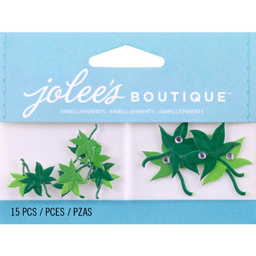 EK Success - Jolee's by You Redux - 3 Dimensional Embellishments with Gem Accents - Mini Maple Leaves