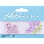 EK Success - Jolee's by You Redux - 3 Dimensional Embellishments with Gem Accents - Light Purple Daisies and Lilacs