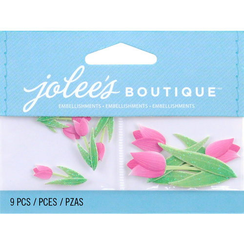 EK Success - Jolee's by You Redux - 3 Dimensional Embellishments - Pink Tulips