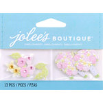 EK Success - Jolee's by You Redux - 3 Dimensional Embellishments with Gem Accents - Pink Rose Bouquet