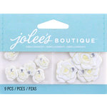 EK Success - Jolee's by You Redux - 3 Dimensional Embellishments with Gem Accents - White Roses