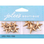 EK Success - Jolee's by You Redux - 3 Dimensional Embellishments - Gold Leaf Vintage Stars