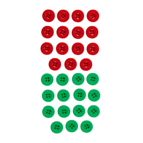 EK Success - Jolee's Boutique - Button Assortment - Red and Green