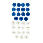 EK Success - Jolee's Boutique - Button Assortment - Blue and White