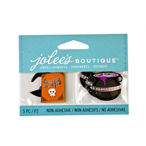 EK Success - Jolee's Boutique - Halloween - 3D Embellishments with Foil Accents - Spells and Potions