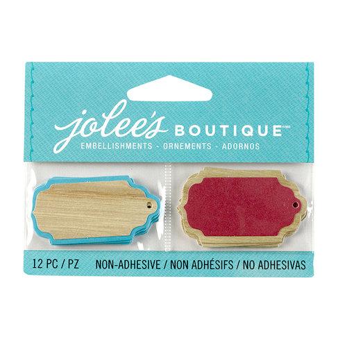EK Success - Jolee's Boutique - 3D Embellishments - Wood Tags