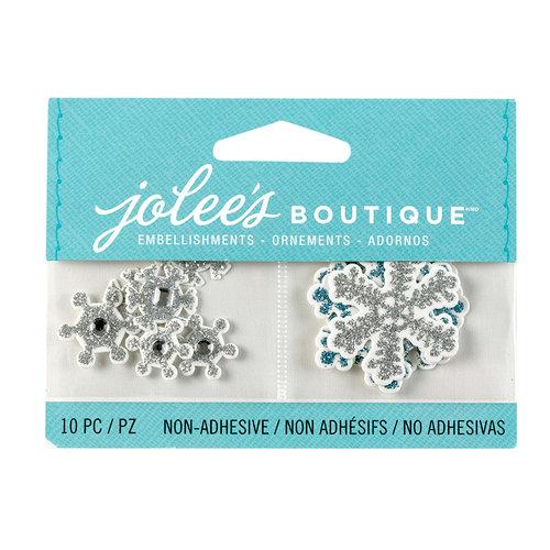 EK Success - Jolee's Boutique - 3D Embellishments with Glitter Accents - Mini Snowflakes
