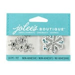 EK Success - Jolee's Boutique - 3D Embellishments with Glitter Accents - Mini Snowflakes