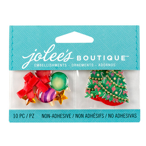 EK Success - Jolee's Boutique - Christmas - 3D Embellishments with Gem Accents - Christmas Ornaments and Trees