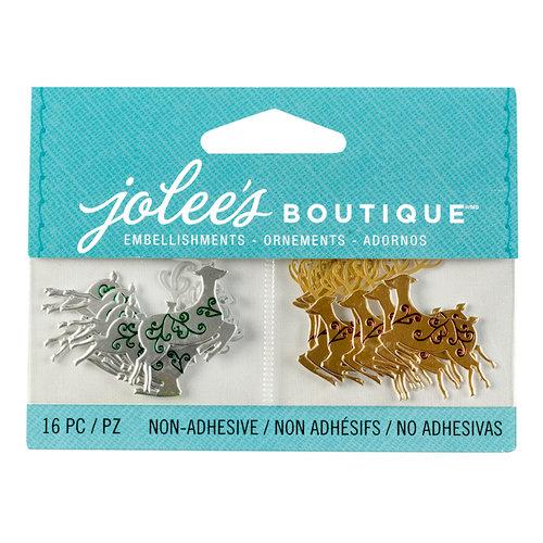EK Success - Jolee's Boutique - Christmas - 3D Embellishments with Foil Accents - Mini Reindeer