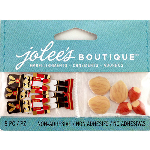 EK Success - Jolee's Boutique - Christmas - 3D Embellishments with Foil Accents - Mini Nutcracker