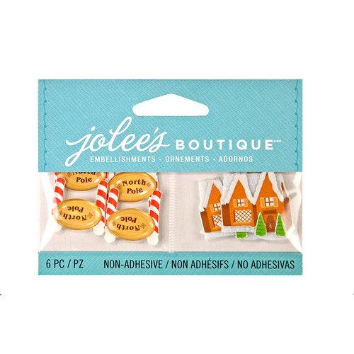 EK Success - Jolee's Boutique - Christmas - 3D Embellishments with Epoxy Accents - North Pole